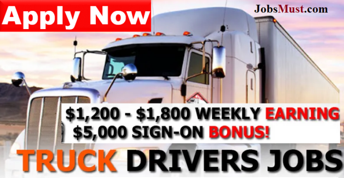 Truck driver jobs in USA with Visa sponsorship